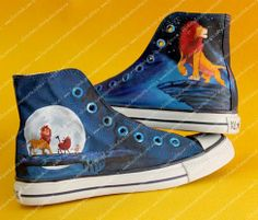 Customized handpainted 'The Lion King' shoes and more on www.facebook.com/shaileeshandpaintedshoes