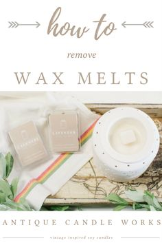 Removing tarts from wax warmers doesn't have to be a difficult or messy job.  Here, at Antique Candle Works, we have found our top 2 easy, mess-free wax clean up solutions for your wax warmer!  You never have to stop enjoying your favorite scents!  Great wax melt hacks for your home! Beautiful handmade soy candles - decor for the modern chic rustic farmhouse home.