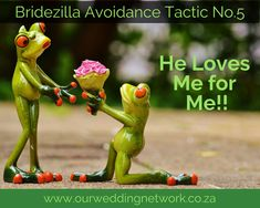 """Bridezilla Avoidance Tactic No.5:  The man you love has gotten down on one knee and said """"Will you spend the rest of your life with me?"""" How does this translate in our heads to """"Oh gosh! I'm getting Married… I have to lose 700kg to fit into my dress!""""?"""