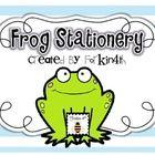 FREEBIE! frog themed stationery