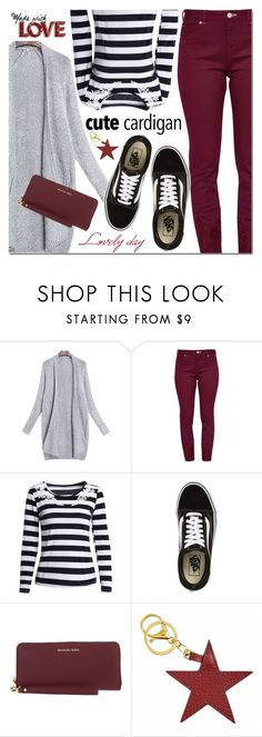 """""""Untitled #3489"""" by mada-malureanu ❤ liked on Polyvore featuring Ted Baker, Vans and Michael Kors"""