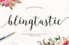Blingtastic Script by Seniors on @creativemarket