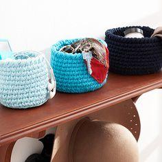 Lily: Download Free Pattern Details - Sugar 'n Cream - Round Baskets (crochet)