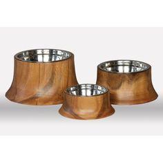 $36 Acacia Dog Bowl