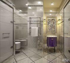 Санузел в белом цвете: интерьер, зd визуализация, квартира, дом, санузел, ванная, туалет, ар-деко, 10 - 20 м2, интерьер #interiordesign #3dvisualization #apartment #house #wc #bathroom #toilet #artdeco #10_20m2 #interior arXip.com