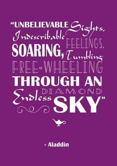 """Unbelievable sights, indescribable feelings. Soaring, tumbling, free-wheeling through an endless diamond sky!"""
