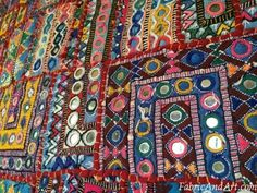 Rajasthani wall hangings--made from scraps of clothes, embellished with mirror work and embroidery