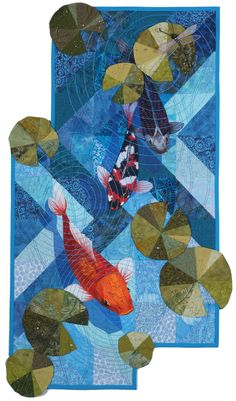 Koi--Rising Art Quilt by Holly Altman