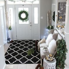 Welcome to my Woodland Chic Christmas home tour with Country Living Magazine! See my Christmas foyer and get tons of decor ideas using glam, shimmer, metallics and shine mixed with lots of natural elements, woodland icons and neutrals! http://www.settingforfour.com