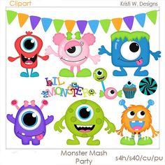 DIGITAL SCRAPBOOKING CLIPART Monster Mash Party by BoxerScraps