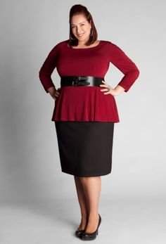 dab956762c Smart Plus Size Career Look. Good for a job interview.remember to  accessorize in moderation.