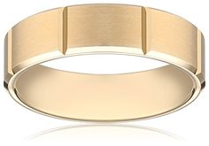 Mens 14K Yellow Gold 6mm Comfort Fit Design Wedding Band Size 10 -- Learn more by visiting the image link.