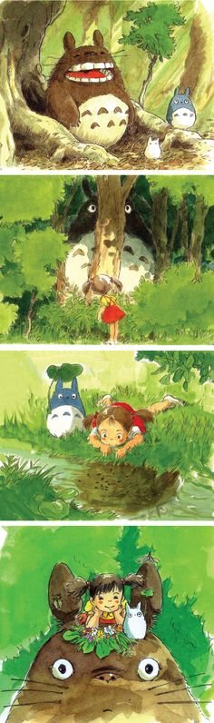 となりのトトロ / My Neighbor Totoro (1988) - Character Design