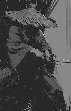 Ronin Sketch, Stuart Kim on ArtStation at… samurai roman gladiator ninja warrior sketch Ninja Kunst, Arte Ninja, Ninja Art, Ronin Samurai, Samurai Warrior, Ninja Warrior, Samourai Tattoo, Samurai Wallpaper, Samurai Artwork