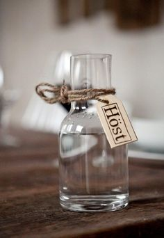 Water jug at Höst Restaurant