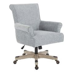 Create the home office of your dreams with this classic desk chair from OSP Home Furnishings.