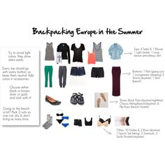 Backpacking Europe in the Summer Packing List