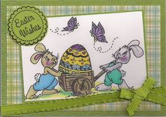 Easter Egg Cart (Sku#J1097) Art Impressions. cute card