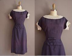 des années 50 blanche à volants robe vintage par simplicityisbliss