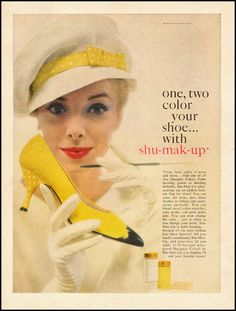 Color your own shoes with Shu-Mak-Up, 1963.I used this coloring years ago and recently found some on line to order that came in several colors. Will have to try making a pair of matching shoes for some outfit.