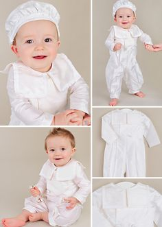 Handsomely traditional the Brakkin is a light fabric romper outfit with adorable beret you'll love.  https://www.onesmallchild.com/brakkin-christening-outfit.html