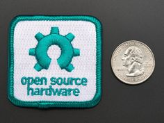 Open source hardware - Skill badge, iron-on patch: Show your pride for open source with a fun badge or sticker!  This is a great stocking-stuffer gift for the open source enthusiast.  Be sure to check out all the patches or stickers for other open source mascots like Tux the penguin, the BSD Daemon, and many more.