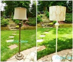 A Stylish Interior: This Old Lamp Makeover. My floor lamp definitely needs a makeover. A Stylish Int Floor Lamp Makeover, Lamp Redo, Do It Yourself Design, Tree Floor Lamp, Home Fix, Old Lamps, Room Lamp, Furniture Makeover, Refinished Furniture