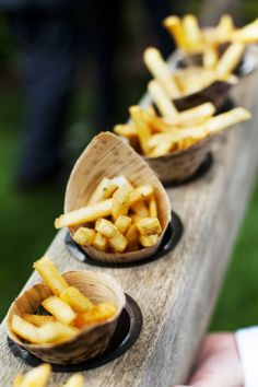 If I want the reception to reflect any favorites, clearly french fries in a cone are in order!