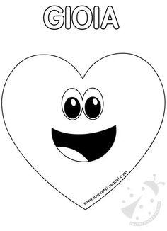 foto de Faccine delle emozioni da colorare Emocje Pinterest Education School and Montessori