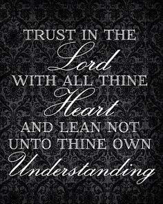 Trust in the Lord-  Free LDS printables