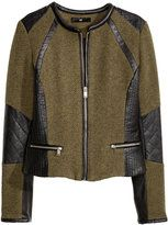 H&M-hm fitted jacket khaki green ladies