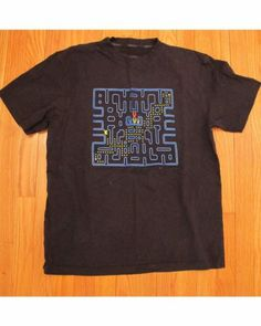 Pac man tee in black- instead of ghosts there are cyberdog logos!