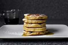 Blueberry Yogurt Multigrain Pancakes by smittenkitchen: All the key ingredients by smittenkitchen who never disappoints!  #Pancakes #Blueberry #smittenkitchen