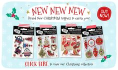 Christmas card making supplies. Glittery toppers and lots more!