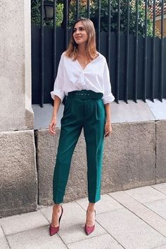 Edgy Work Outfits, Mode Outfits, Cute Casual Outfits, Work Casual, Stylish Outfits, Fashion Outfits, Casual Chic, Summer Casual Outfits For Women, Semi Casual Outfit Women