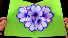 Basteln: Pop-Up Karten basteln mit Papier - DIY Geschenke:. Origami Rose, Origami Flowers, Diy Flowers, Paper Flowers, Pop Up Flowers, Origami Instructions Step By Step, Origami Tutorial, Flower Tutorial, Pop Up Flower Cards