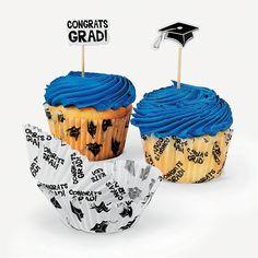 Graduation Baking Cups With Picks - OrientalTrading.com