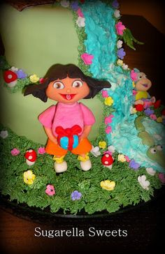 Learn how to make Dora the explorer by following my step by step tutorial. See how easy it is to create this cute cake topper. This can be made with fondant or gumpaste. Cake decorating will become so easy and fun. Hope you enjoy the blog.