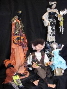 Most of the sculptures shown are completed using a textile hardener, Powertex. Refer to the Powertex page for product information. Faeries, Attitude, Sculptures, Textiles, Wall Art, Anime, Inspiration, Ea, Display