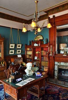 Victorian Interiors, Victorian Homes, Taxidermy Decor, Dark Bohemian, Nordic Vikings, Viking Culture, Library Inspiration, Book Nooks, Room Decor