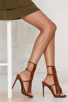 Nasty Gal Night Moves Fringe Heel - Brown | Shop Shoes at Nasty Gal!