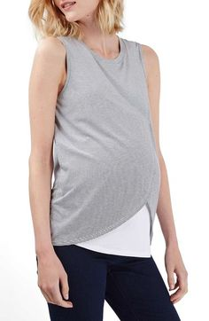 Topshop Wrap Maternity/Nursing Tank available at #Nordstrom