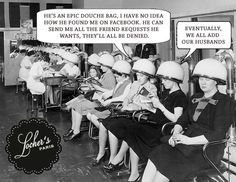 In the beauty parlor....
