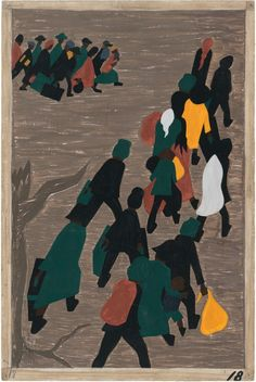Jacob Lawrence, The migration gained in momentum. (1941)