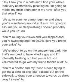 1st: stalker au. writing prompts inspiration text post tumblr