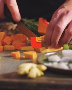 Want the best butternut squash soup? Saute a base of chopped onion, celery and carrot. Thanksgiving Recipes, Fall Recipes, Soup Recipes, Dinner Recipes, Cooking Recipes, Healthy Recipes, Recipies, Best Butternut Squash Soup, Good Food