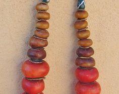 Silber-Tuareg Halskette mit Carnelean Onyx & Silber-Perlen