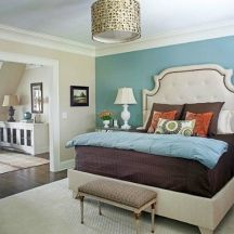 Modern bedroom paint ideas accent wall painting bedroom accent wall paint ideas painting an accent wall . Teal Accent Walls, Accent Wall Colors, Accent Wall Bedroom, Wall Accents, Wall Colours, Paint Colors, Home Bedroom, Modern Bedroom, Bedroom Decor