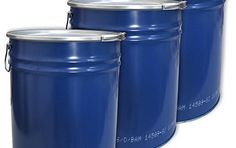 Lot de 3 Tonneaux, baril, fût métallique bleu avec couvercle 30 L (3×23020): Volume : 30 L - Hauteur: 397 mm - Ø : o328/u311 mm - Poids :…