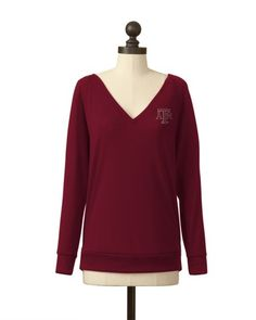 Texas A & M Aggies | Pullover V-Neck Sweater | meesh & mia
